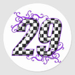 Race car number 29 sticker