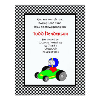 Race Car Party Invitation