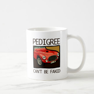 Race car pedigree, red classic sports car classic white coffee mug