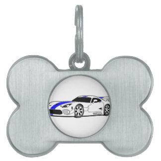Race Car Pet ID Tag
