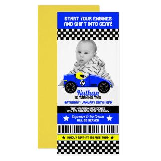Race Car Photo Template Birthday Party Invitation