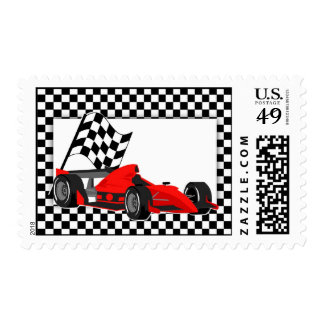 Race Car Postage