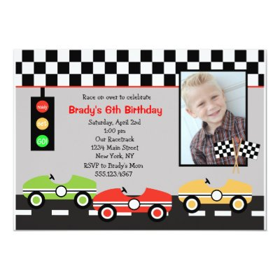 cars birthday invitation | zazzle, Birthday invitations