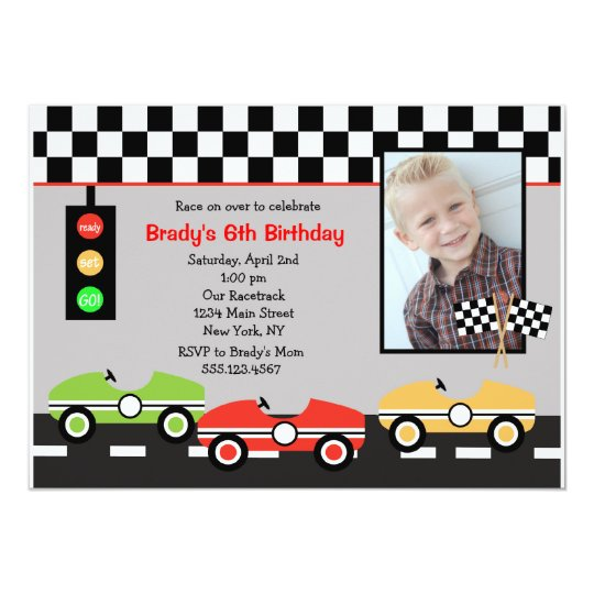 race car racecar brithday boys birthday invitation zazzle com