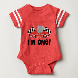 Race Car Rally Flags 1st Birthday T-shirt