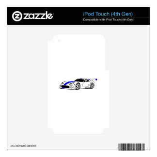 Race Car Skins For iPod Touch 4G