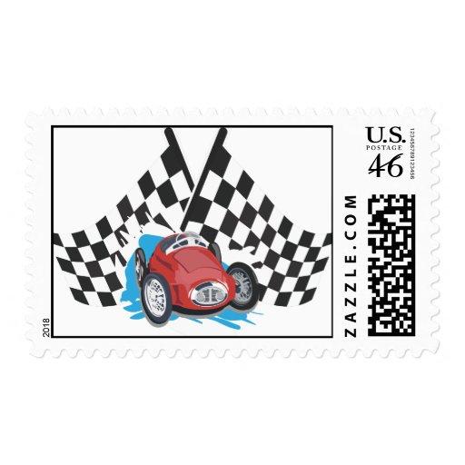 Race car stamp