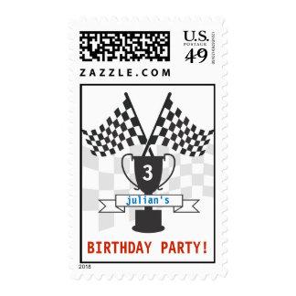Race Car Trophy Stamp