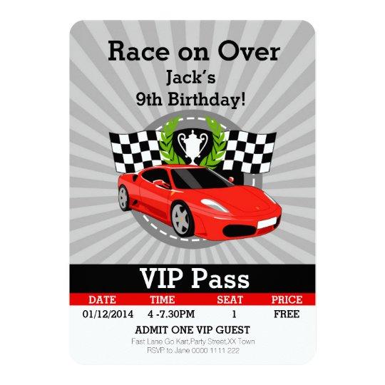 race car invitations & announcements | zazzle, Birthday invitations