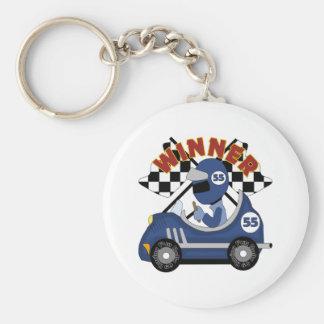 Race Car Winner Kids Gift Basic Round Button Keychain
