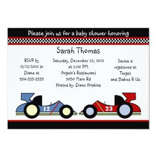 Race Cars Baby Shower/BirthdayInvitations Invitation