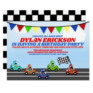 car theme invitations zazzle