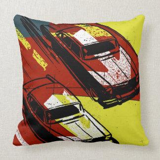 Race Cars Throw Pillow