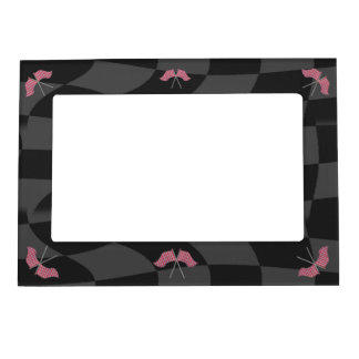 Race Checkered Flags Magnetic Photo Frame