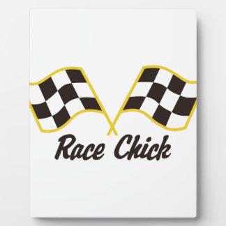 Race Chick Plaque