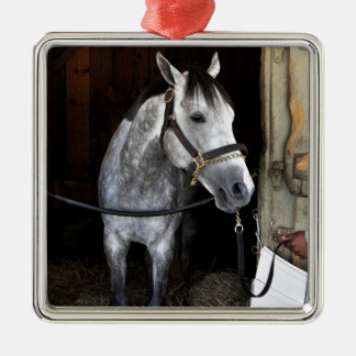 Race Day Square Metal Christmas Ornament
