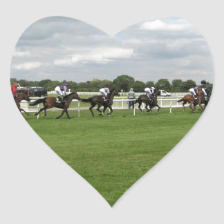 Race Day - York Horse Race Ebor Festival Heart Sticker