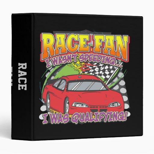 Race Fan Qualifying 3 Ring Binders