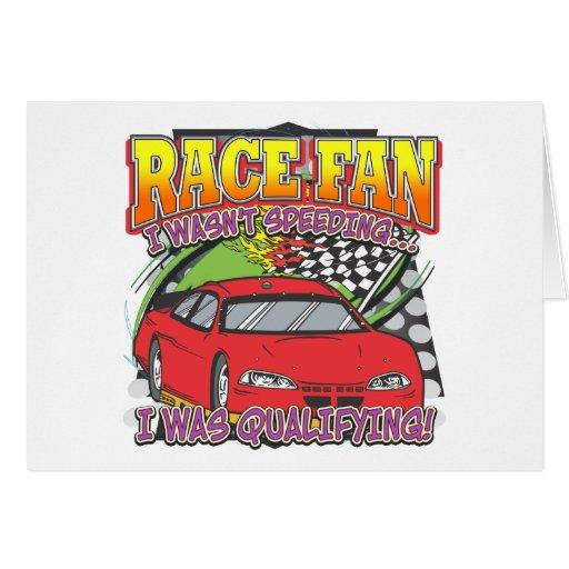 Race Fan Qualifying Card