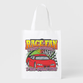 Race Fan Qualifying Reusable Grocery Bag