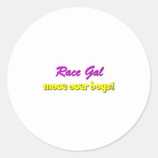 Race Gal Classic Round Sticker