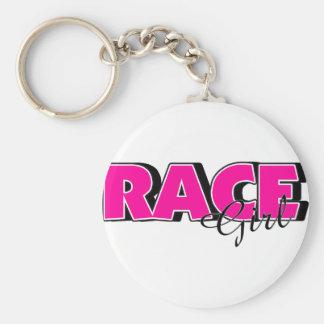 Race Girl Key Chains