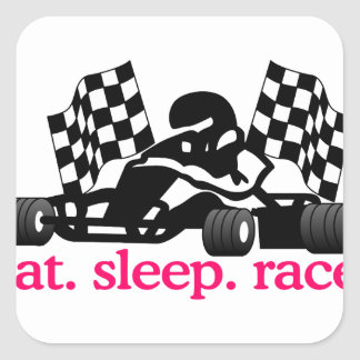 Race (Go Kart) Square Sticker