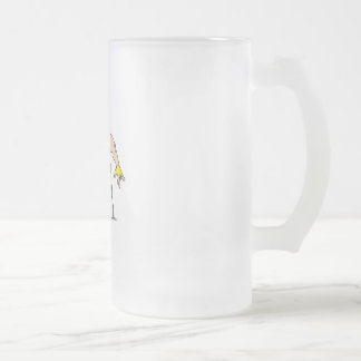 Race Hard Frosted Glass Beer Mug