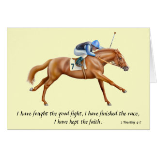 Race Horse 2 Timothy Bible Scripture Card
