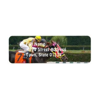 race-horse-8 etiquetas de remite