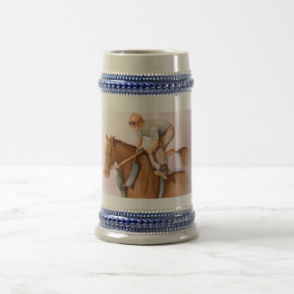 Race Horse and Jockey Beer Stein