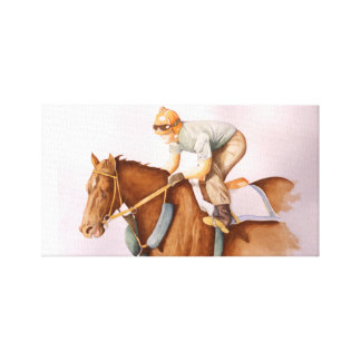 Race Horse and Jockey Canvas Print