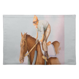Race Horse and Jockey Cloth Placemat