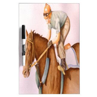 Race Horse and Jockey Dry-Erase Board
