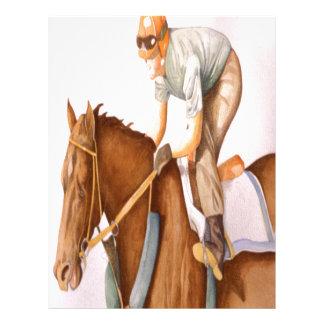 Race Horse and Jockey Letterhead