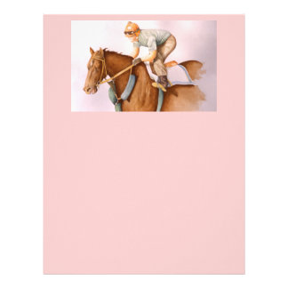 Race Horse and Jockey Letterhead