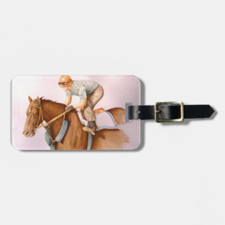 Race Horse and Jockey Bag Tag