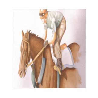 Race Horse and Jockey Notepad