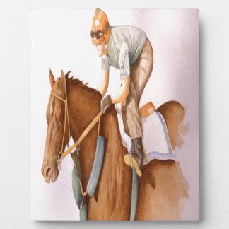 Race Horse and Jockey Plaque