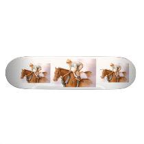 Race Horse and Jockey Skateboard Deck