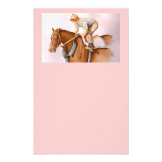 Race Horse and Jockey Stationery