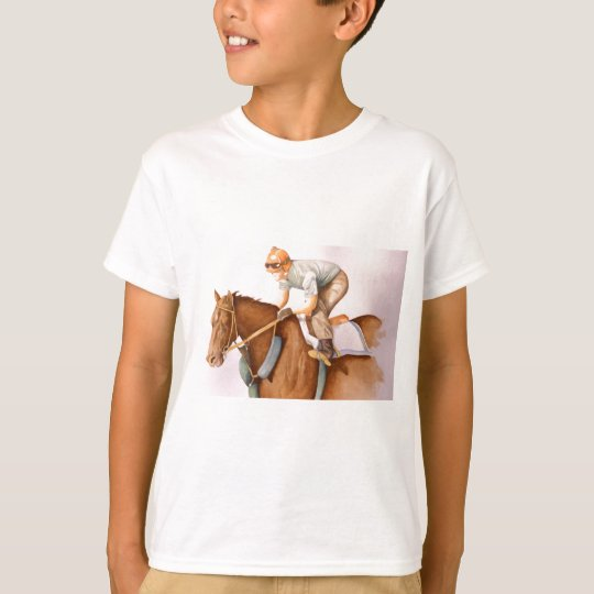 Race Horse and Jockey T-Shirt