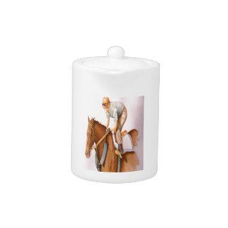 Race Horse and Jockey Teapot