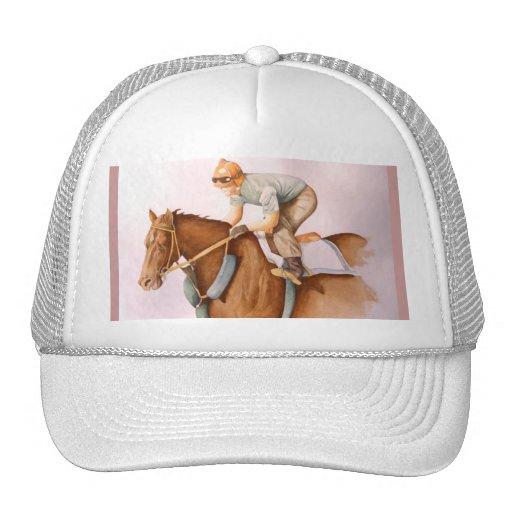 Race Horse and Jockey Trucker Hat