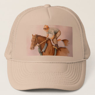 Race Horse and Jockey Trucker Hat