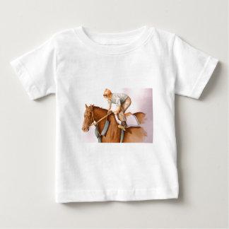 Race Horse and Jockey WaterColor Baby T-Shirt