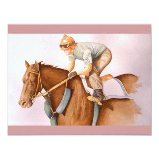 Race Horse and Jockey WaterColor Card