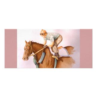 Race Horse and Jockey WaterColor Rack Card