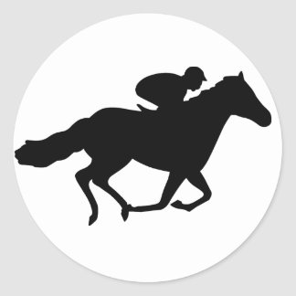 Race Horse Classic Round Sticker