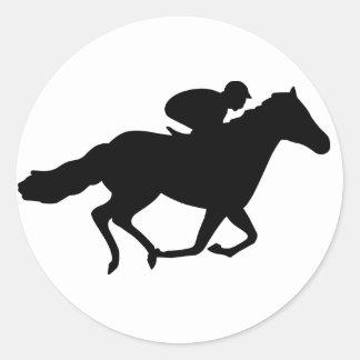 Race Horse Classic Round Sticker